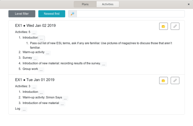 Screenshot of Planalyzer app